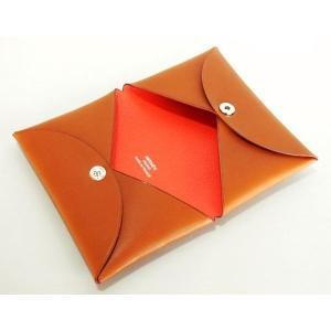 online store 8f02c 4d7e5 エルメス カードケース 名刺入れ CALVI POP カルヴィポップ フォーヴ/オレンジポピー バレニア HERMES
