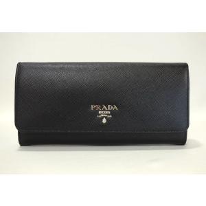 プラダ 財布 NERO+ MUGHETTO ブラックとツグミ色 1MH132 2E6V F0LN1 PRADA
