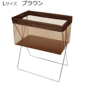 日本製 SAKI(サキ) サイドワゴン 浅型 メッシュ Lサイズ R-336 ブラウン 同梱不可の写真