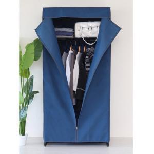 【売れています】  ホコリから衣類を守る  デニム風カバーのクローゼットハンガー  収納の無い部屋に...