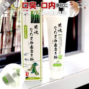 「2個セット」 伝統爽快 なた豆歯磨き粉 (120g) 柿渋配合 人気 口臭 スッキリ すっきり な...