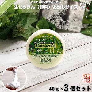 「お手軽 3個セット」 旬の 生せっけん VEG 野菜 (40g) 洗顔 洗顔石鹸 石鹸 石けん 生...