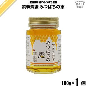 純粋蜂蜜 みつばちの恵 瓶入 (180g) 藤井養蜂場 「5250円以上で送料無料」 mitsubachi-road