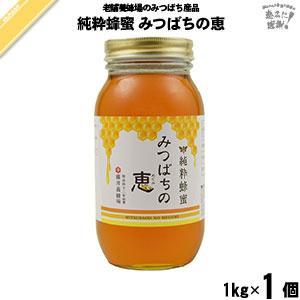 純粋蜂蜜 みつばちの恵 瓶入 (1kg) 藤井養蜂場 「5250円以上で送料無料」 mitsubachi-road