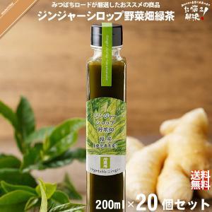 「20個セット」 ジンジャーシロップ 野菜畑 緑茶 鹿児島産 (200ml)|mitsubachi-road