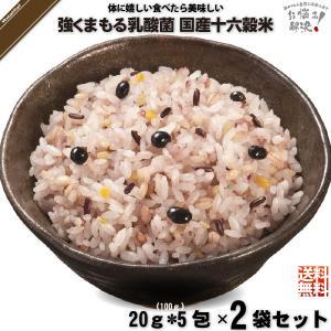 「お手軽 2個セット」 強くまもる乳酸菌 国産 十六穀米 (20g×5包) 雑穀 雑穀米 美味しい 特0 mitsubachi-road