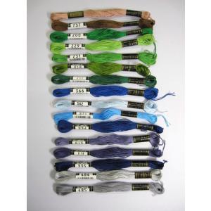 刺繍糸 25番 綿100%  8m巻   6本をより合わせた物なので、2本取り、3本取りと   自由...