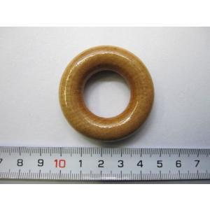 木製リング 白ニス塗り       外径 : 約 45 ミリ   内径 : 約 22 ミリ    厚...
