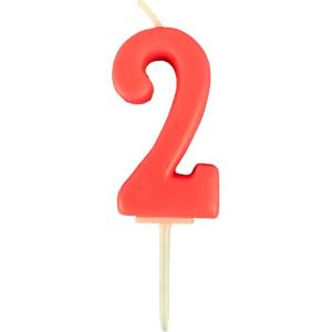 ナンバーろうそく 数字「2」 誕生日 記念日 キャンドル ローソク|mitsuboshi