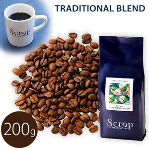 Scrop コーヒー豆 スペシャルティコーヒー 【TRADITIONAL Blend トラディショナルブレンド】容量200g 自家焙煎 コクと苦み、重厚感 挽きたて|mitsuboshi