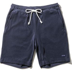 ◆やわらかなタッチ感のパイル地の、シンプルなショートパンツ。夏でも着やすい薄手のミニパイルで、とても...