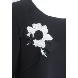 プルオーバー レディース amitie アミティエ 黒 花飾り リボン AM172984|mitsuki-web|05