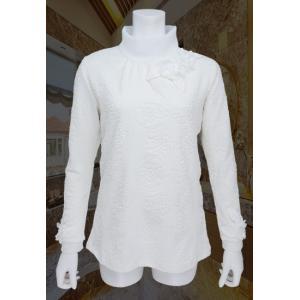 Tシャツ レディース Bona ボナ オフ ハイネック 花モチーフ BO418102|mitsuki-web