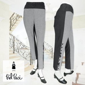 BelPaci(ベルパーチ)/パンツ/黒xオフ/BP20320|mitsuki-web