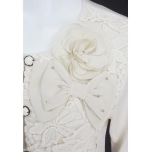 カーディガン レディース BelPaci ベルパーチ キナリ 花モチーフ リボン飾り BP31548|mitsuki-web|05