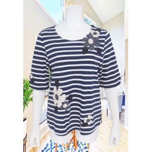 BelPaci(ベルパーチ)/Tシャツ/紺/BP51508|mitsuki-web