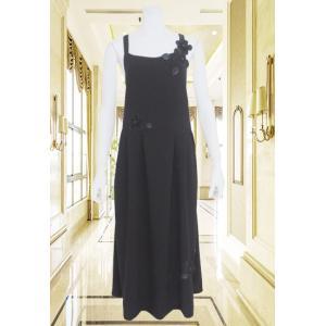 ジャンパースカート レディース BelPaci ベルパーチ 黒 薄手 BP60076|mitsuki-web