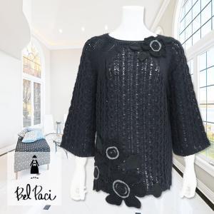BelPaci(ベルパーチ)/セーター/黒/BP70334|mitsuki-web