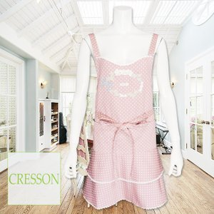 CRESSON(クレソン)/エプロン/ピンク/C91294◆セール30%オフ|mitsuki-web