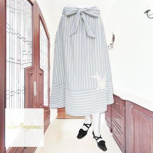 LeSentier(ルセンティエ)/スカート/ブルー/LS0050322|mitsuki-web