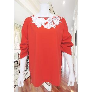 LeSentier(ルセンティエ)/Tシャツ/オレンジ/LS7070208|mitsuki-web