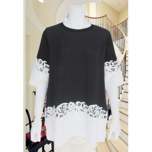 LeSentier(ルセンティエ)/Tシャツ/黒/LS8070218|mitsuki-web