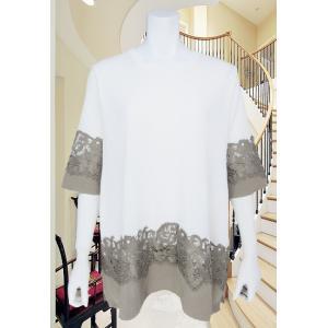 LeSentier(ルセンティエ)/Tシャツ/オフ+ベージュ/LS8070218|mitsuki-web