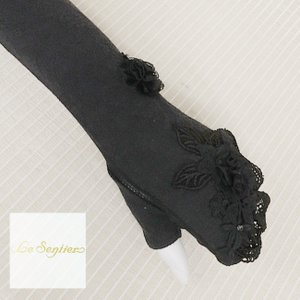 LeSentier(ルセンティエ)/日除け手袋/黒/LS9070669|mitsuki-web