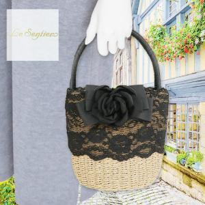 LeSentier(ルセンティエ)/カゴバッグ/黒/LS9070670|mitsuki-web