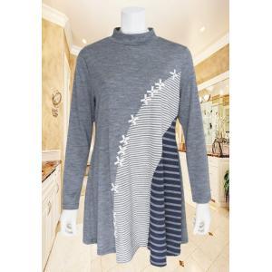 Tシャツ レディース ZELU ゼル チャコール ウール地 Z17514153|mitsuki-web