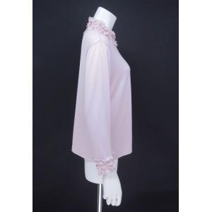 プルオーバー レディース ZELU ゼル ピンク 花飾り ハイネック Z18122080|mitsuki-web|02