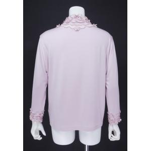 プルオーバー レディース ZELU ゼル ピンク 花飾り ハイネック Z18122080|mitsuki-web|03
