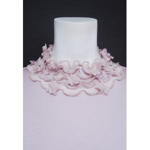 プルオーバー レディース ZELU ゼル ピンク 花飾り ハイネック Z18122080|mitsuki-web|05