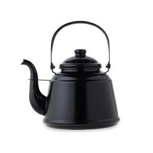 レトロホーローケトル (ブラック) 41302 マット仕上げ mitsuyoshi