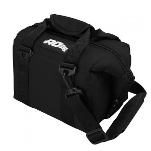 AOクーラーズ 6パック キャンバス ソフトクーラー ブラック AO6BK-BK キャンプ用品
