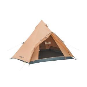 開閉時テント内に雨の浸入を防ぐ前室を備えたシンプル構造のティピー型テント  ●耐水圧:約1500mm...