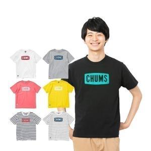キャッシュレスポイント還元 チャムス チャムスロゴTシャツ  CH01-1324 キャンプ用品|mitsuyoshi