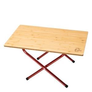 ロースタイルのキャンプにもちょうどいいサイドテーブル  ナチュラルな風合いが魅力の天然木(竹)を使用...