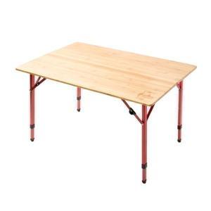 キャンプやBBQのメインテーブルに◎  ナチュラルな風合いが魅力の天然木(竹)を使用。高さは3段階で...