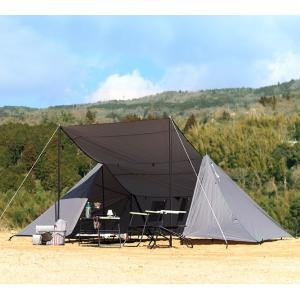 簡単に設営できて、みんなで集まれて、テントにもなる。そんな大型フロアレスシェルターを軽量素材で作りま...