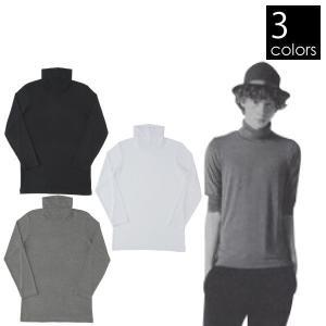 エムエックスピー リュクセルウォーム タートルネック8分袖シャツ メンズ  MX15344|mitsuyoshi