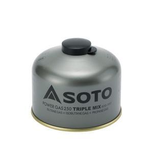 SOTO パワーガス250トリプルミックス SOD-725T アウトドア ガス キャンプ