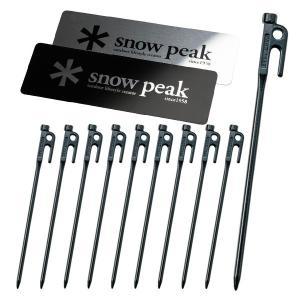 スノーピーク メタルロゴ ステッカー セット & ソリッドステーク30 10本セット キャンプ用品 ペグ|mitsuyoshi