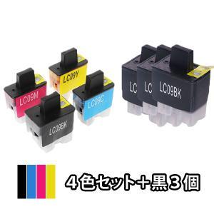 4色セット+黒3本 BROTHER ブラザー 互換インク LC09-4PK対応 MFC-830CLN...