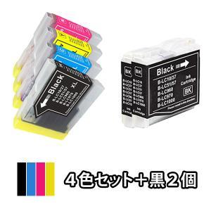 4色セット+黒2本 BROTHER ブラザー 互換インク LC10-4PK対応 MFC-650CD/...