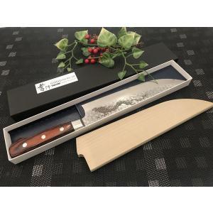 堺孝行 ダマスカス33層鋼 ブッチャーナイフ 210mm 龍入り|mitusaburo