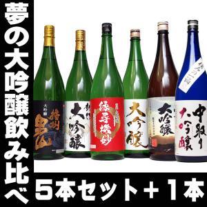 母の日 父の日 ギフト 一升瓶が6本! 45%OFF 日本酒 夢の大吟醸5本セット+1 6本セット エクストラセット 福袋 一升瓶 1.8L 送料無料|mituwa