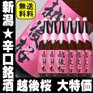 遅れてごめんね 敬老の日プレゼント ギフト 日本酒 越後桜1800ml 6本プラケース入り|mituwa