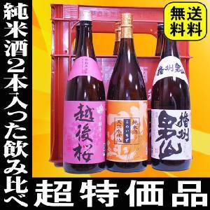 日本酒 お歳暮 御歳暮 ギフト プレゼント お酒  純米酒2本入った激安6本セット プラケース入り 送料無料|mituwa