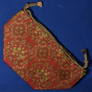 駒袋 正絹金襴(龍村美術織物製)I miwagobanten